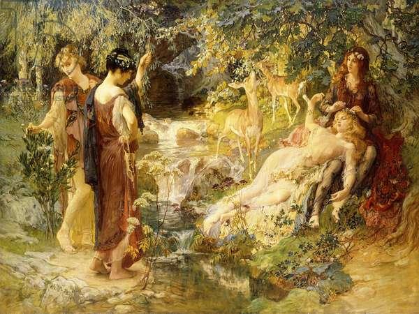 A Secret Wood, 1900 (oil on canvas)
