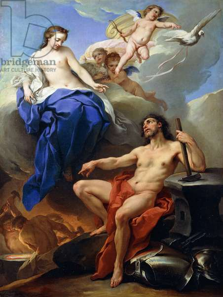 Venus Requesting Vulcan to make Arms for Aeneas,  (oil on canvas)