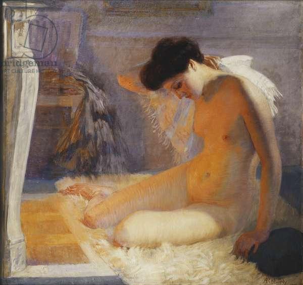 Nude; Nu, 1909 (oil on canvas)