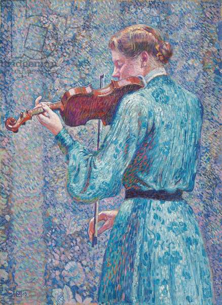 Marie-Anne Weber Playing the Violin, 1903 (oil on canvas)