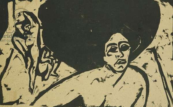 Nude Dancers; Nackte Tanzerinnen, 1909 (woodcut)