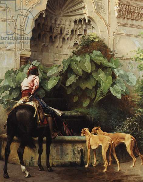 Return to Hunting,  (oil on canvas)