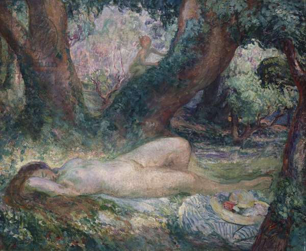 Sleeping Nymph (oil on canvas)