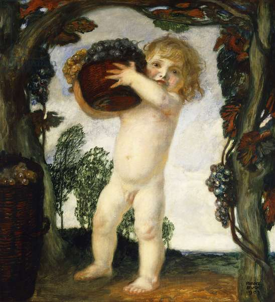 Boy with Grapes; Knabe mit Trauben, 1903 (oil on panel)