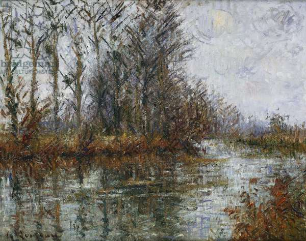 Turn of the Eure; Tournant de l'Eure, (oil on canvas)