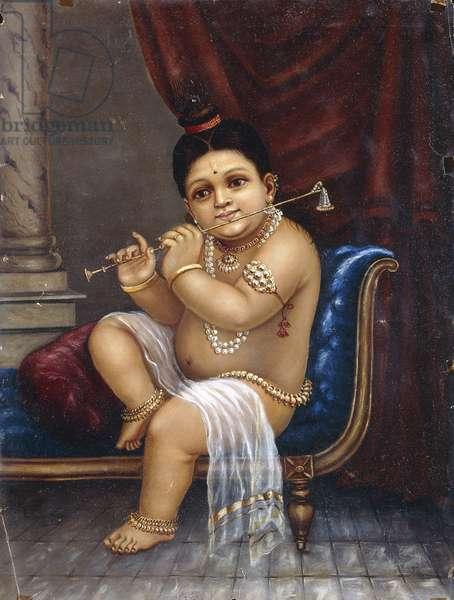 Bala Krishna, 1893 (oil on paper)
