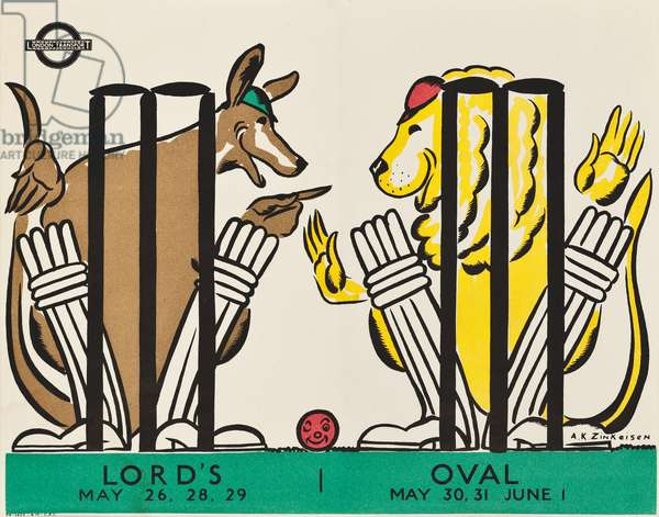 LORD'S, OVAL, 1934 (colour litho)