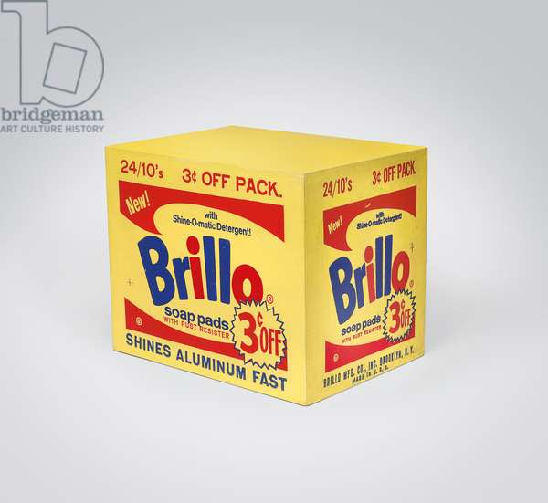 Brillo Box (3 cents off), 1963-1964 (silkscreen ink and house paint on plywood)