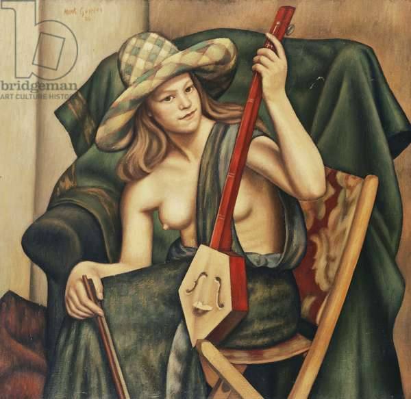 The Japanese Violin, 1926 (oil on canvas)