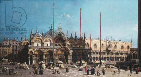 San Marco and the Doge's Palace, Venice,  (oil on canvas)