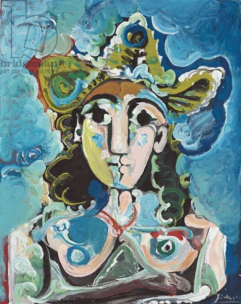 Nude with Hat, Bust; Nu au Chapeau, Buste, 1965 (oil on canvas)