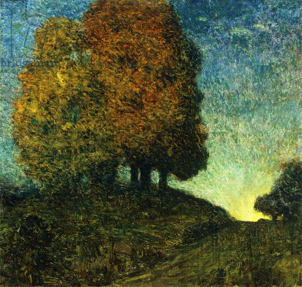 The Big Maples, Moonrise, 1902 (oil on canvas)