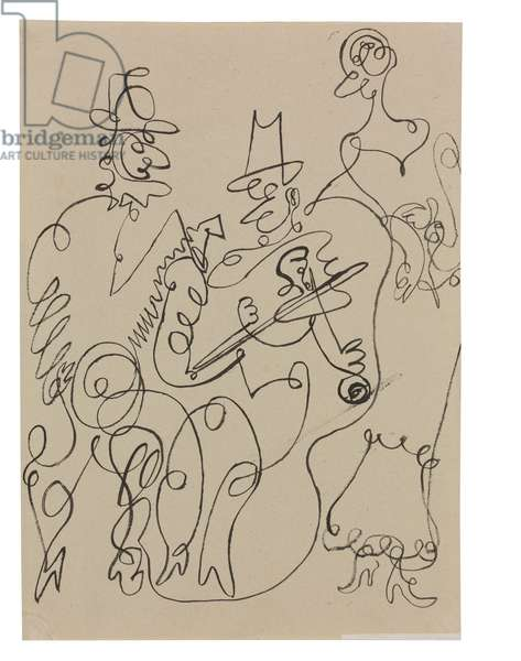 Three Musicians, 1918-19 (pen & India ink on paper)