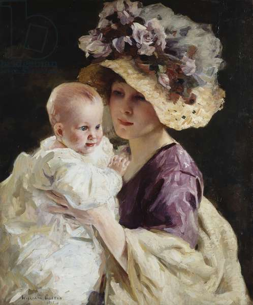 Mother and Child, 1911 (oil on canvas)