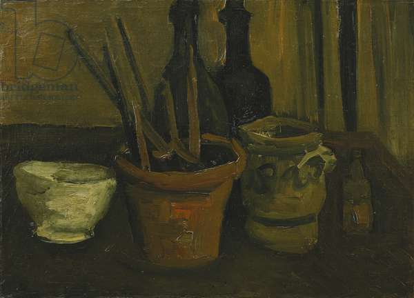 Still Life with Brushes in a Flowerpot; Nature Morte aux Pinceaux dans un Pot a Fleurs, 1884 (oil on canvas)
