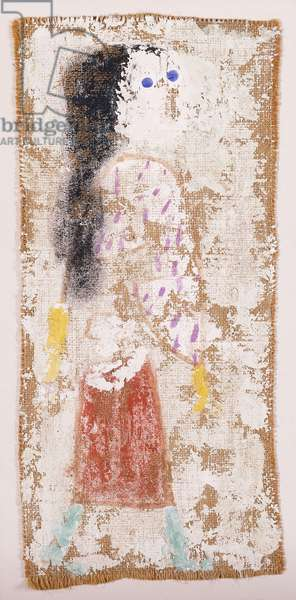 D.Z. as a Girl; D.Z. in einer Madchenrolle, 1938 (gesso, watercolour and black ink on burlap on board)