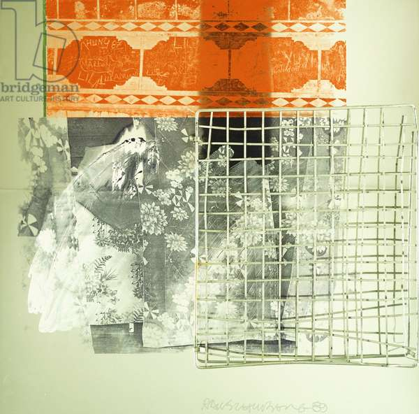 Untitled, 1989 (oil silkscreen and synthetic polymer and steel grill on aluminiu)