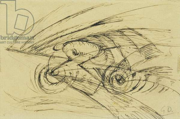 Speed; Velocita, 1913 (pen and ink on paper)