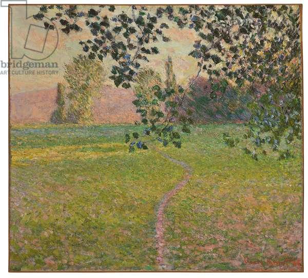 Morning landscape, 1888 (oil on canvas)