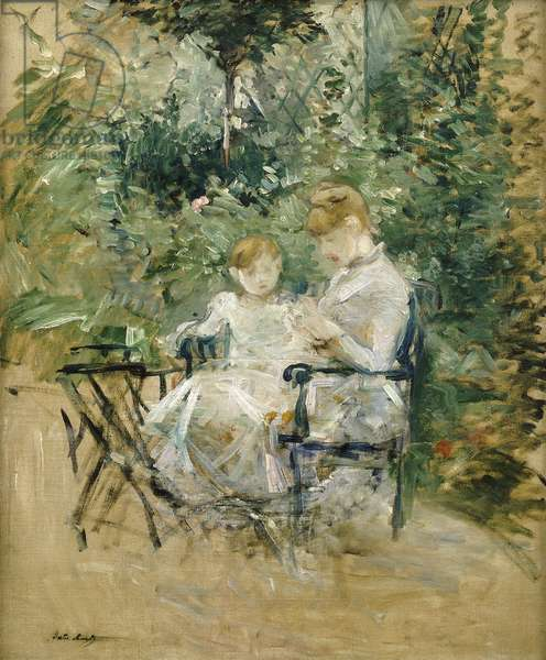 In the Garden; Dans le Jardin, c.1885 (oil on canvas)