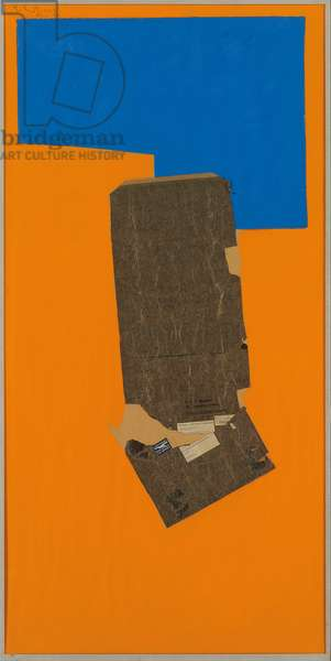 Geneva Collage, 1974 (oil, paper and printed paper collage on canvas)