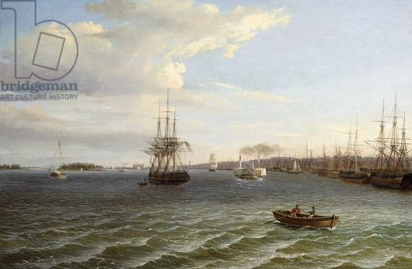 View of Philadelphia, Looking South on the Delaware River,  (oil on canvas)