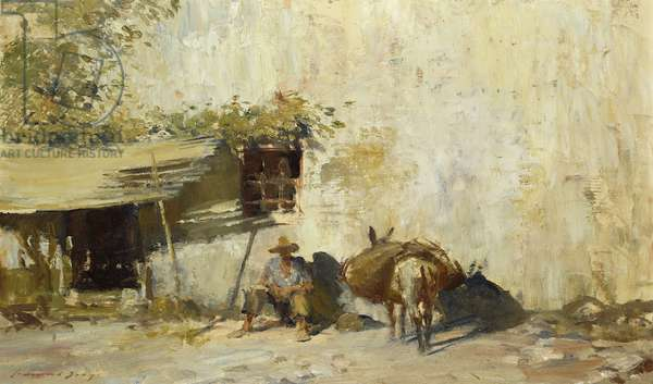 Noon, Southern Spain, (oil on canvas-board)