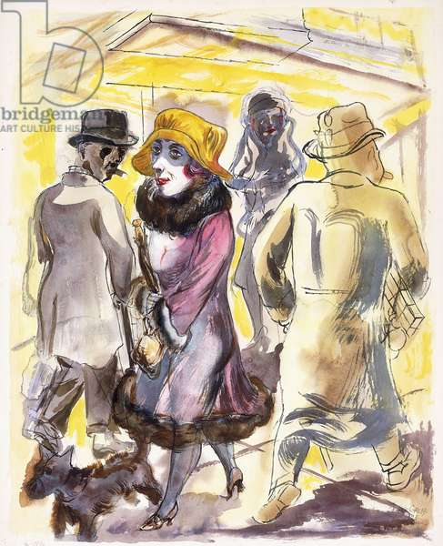 There is no Hurry, 1923 (watercolour, gouache, brush and black ink on paper)