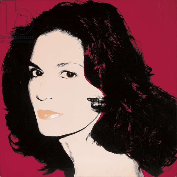 Portrait of Florinda Bolkan, 1981 (synthetic polymer paint and silkscreen ink on canvas)
