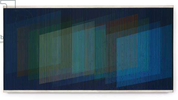 Physichromie 535, Paris, 1970 (acrylic on plastic, plastic inserts and wood)