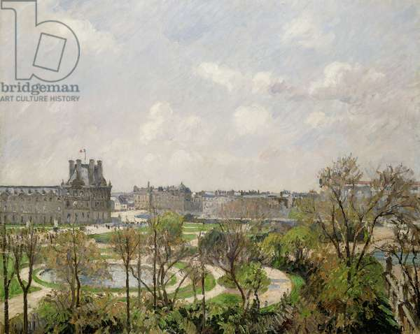Jardin des Tuileries, Spring Morning; Jardin des Tuileries, Matin, Printemps, 1900 (oil on canvas)