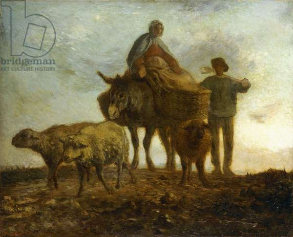 Return from the Fields,  (oil on canvas)