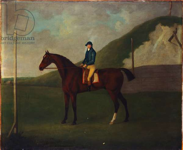 'Creeper', A Bay Colt With Jockey Up At The Starting Post At The Running Gap In The Devils Ditch,  Newmarket (oil on canvas)
