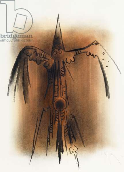 Bird, c.1970 (charcoal and pastel on Fabriano cottonn paper)