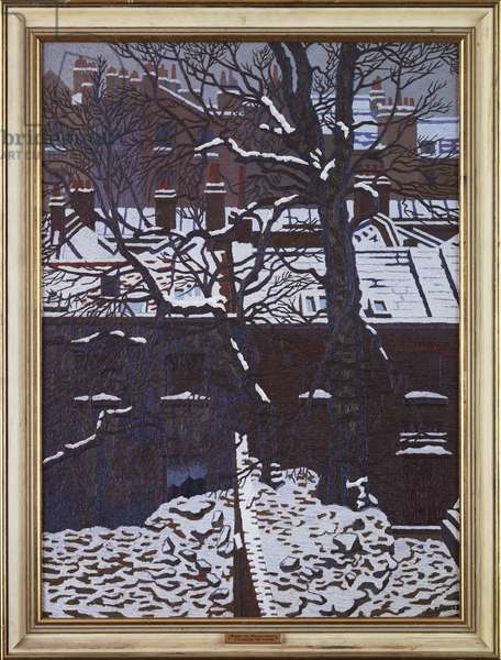 Snow in Bloomsbury, 1929 (oil on canvas)