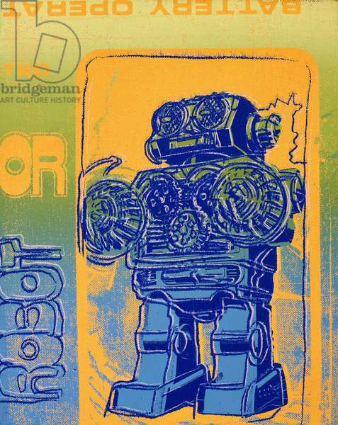 Robot, 1983 (synthetic polymer and silkscreen inks on canvas)