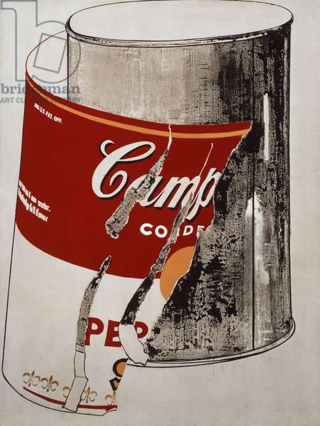 Big Torn Campbell's Soup Can (Pepper Pot), 1962 (acrylic and graphite on canvas)