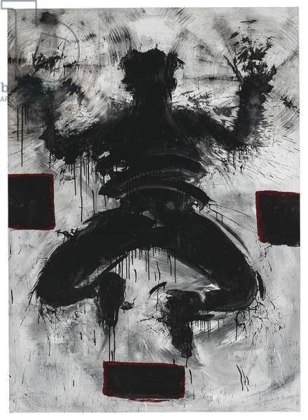 Jumping Shadow (Sonic Circles and Boxes), 1986-88 (acrylic on canvas)