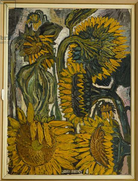 Sunflowers (oil on canvas)