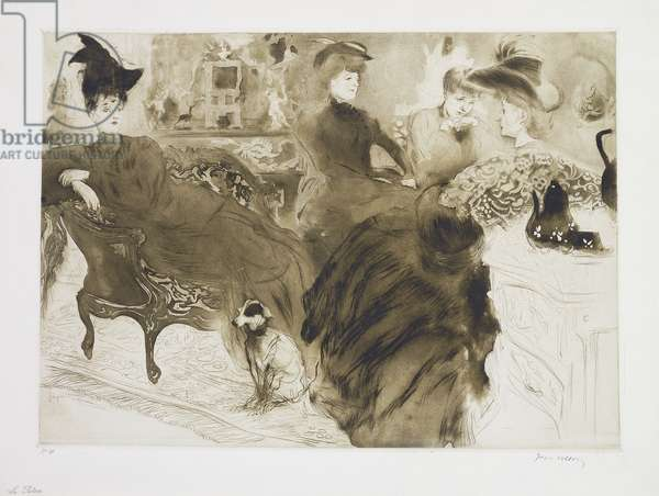 The Gossips; Le Pontin, 1904 (etching with drypoint and aquapoint, printed in olive green, 190)