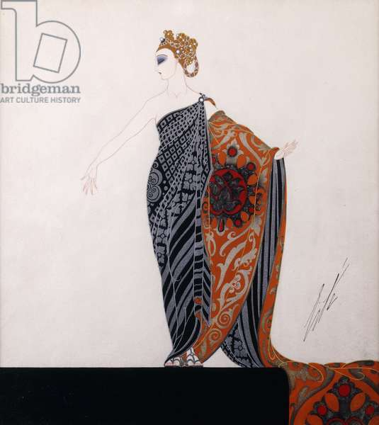 Costume design for 'Ganna Walska', Folies Bergere, c.1925 (gouache and metallic paint)