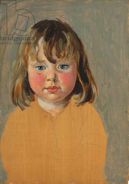 Portrait of Poppet, 1925 (pencil and oil on panel)