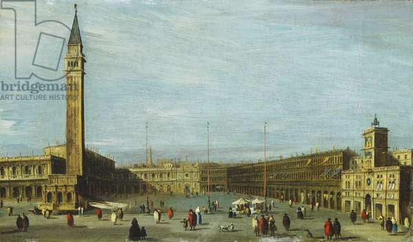 The Piazza San Marco, Venice looking West,  (oil on canvas)