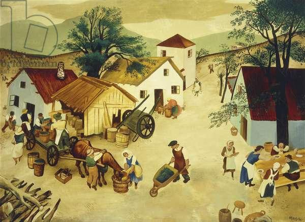 Harvest Time, (oil on canvas)