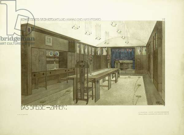 Dining Room, c.1901 (coulour lithograph)