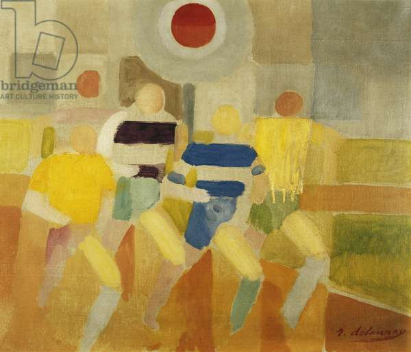 The Runners on Foot, c.1920 (oil on canvas)