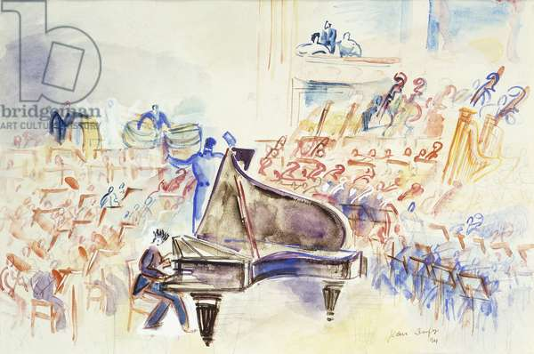 The Orchestra; D'Orchestre, 1924 (watercolour over pencil on paper)