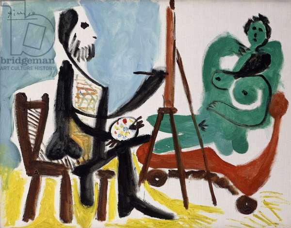 Painter and Model III; Peintre et Modele III, 1963 (oil on canvas)