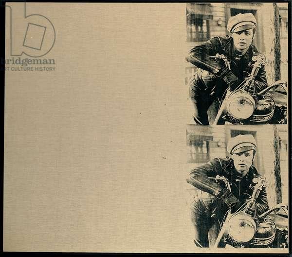 Double Marlon, 1966 (silkscreen ink on unprimed linen)
