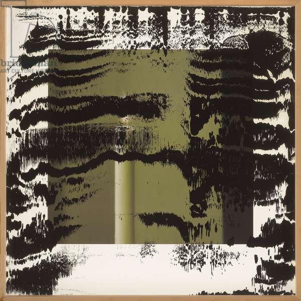 Kerze I, 1989 (colour litho with oil paint)